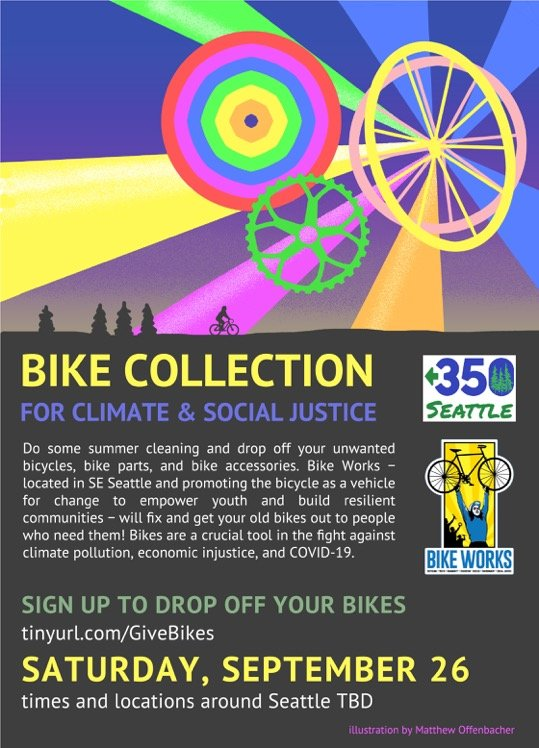 350 Seattle hosts: Bike Collection for Climate and Social Justice